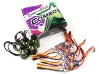 MultiStar & Afro Combo Pack - 2216-800KV e combinados 20A Afro ESC Conjunto de 4 CW / CCW