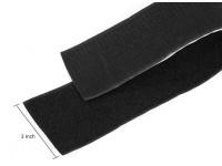 Poliéster Velcro Peel-n-stick (preto) (1 metro)