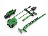 1/10 Escala Defender Jogo de acessórios com o manequim Winch - Green