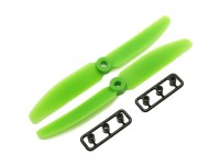 Gemfan 5040 GRP / Nylon Hélices CW / CCW Set (verde) 5 x 4