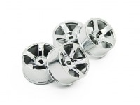 5 Raio Chrome Rim Set (F / R) - Turnigy TZ4 AWD / Deriva Spec