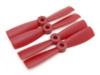 Diatone Touro nariz de plástico Hélices 4 x 4,5 (CW / CCW) (vermelho) (2 pares)