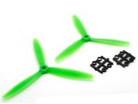 GemFan 6040 GRP 3-Blade Hélices CW / CCW Set Green (1 par)