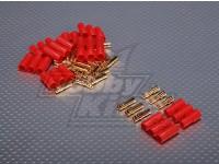 3,5 milímetros 3 fios Bullet-conector para motor (5pairs / saco)
