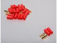 HXT 3,5 milímetros de Ouro Connector w / Protector (10pcs / set)