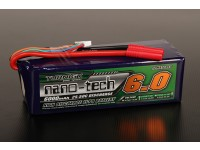 Turnigy nano-tecnologia 6000mAh 6S 25 ~ 50C Lipo pacote