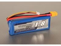 Turnigy 1800mAh 2S 30C Lipo pacote