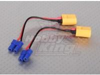 XT60 para EC2 Losi adaptador de bateria (2pcs / bag)