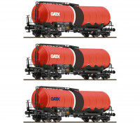 Roco/Fleischmann TT Scale 3 Piece Slurry Tank Wagon Set GATX