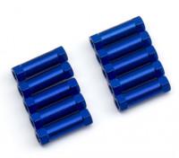 Leve de alumínio redonda Seção Spacer M3x13mm (azul) (10pcs)