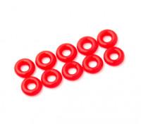 O-ring Kit 3mm (néon vermelho) (10pcs / saco)
