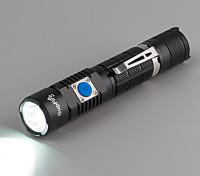 (Alça de mão cabo do carregador lanterna caixa branca) Lanterna dois switch
