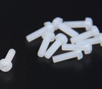 Parafusos M3X10 Nylon (10pcs / saco)