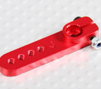 Heavy Duty Alloy 1in Servo Arm - JR (vermelho)