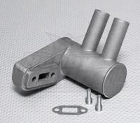 Pitts silencioso para motor a gasolina 15cc