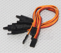 15 centímetros Servo chumbo Extensão (JR) com 26AWG gancho (5pcs / bag)