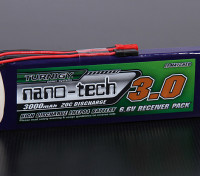 Turnigy nano-tecnologia 3000mAh 2S1P 20 ~ 40C LiFePo4 Receiver Pacote