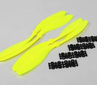 12x4.5 SF Props 2pc Padrão Rotação / 2 pc RH Rotação (Flouro Amarelo)