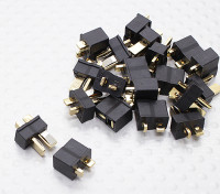 Mini preto T Connector (10 pares)