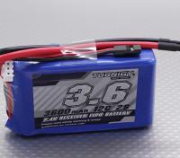 Turnigy 3600mAh 2S 12C Lipo Receiver Pacote
