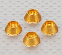 Alloy Cone Washer (ouro) (4pcs)