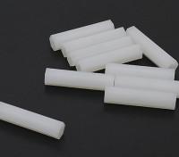 5,6 milímetros x 25 milímetros M3 Nylon Tapped Spacer (10pc