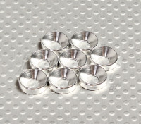 Rebaixada Washer alumínio anodizado M5 (prata) (8pcs)