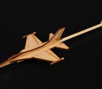 F-16 Modelo Prática da vara Plano Laser Cut Wood (Kit)