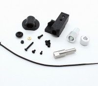 RotorBits Servo Mount Set w / engrenagem (Black)