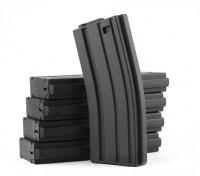 Rei de Armas 120rounds revistas para a série Marui M4 / M16 AEG (Black, 5pcs / box)