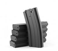 Rei de Armas 120rounds revistas de metal para a série Marui M4 / M16 AEG (Black, 5pcs / box)