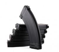 Rei de Armas 140rounds revistas de metal para a série Marui AK AEG (Black, 5pcs / box)