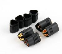 MT60 3 Pole Motor / ESC Connector Set 12AWG negro Masculino - Feminino (2 set)