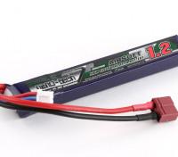 Turnigy nano-tecnologia 1200mAh 2S 25 ~ 50C Lipo AIRSOFT Pack (T-Connector)