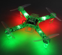 HobbyKing FPV250 V4 Fantasma verde Edição LED Night Flyer FPV Drone (verde) (Kit)