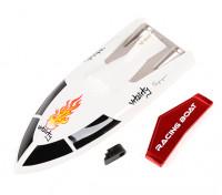 FT007 Vitalidade V-Hull Corrida de Barco 360 milímetros substituição Top Cover & Spoiler