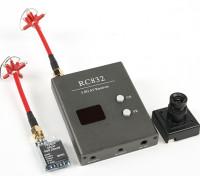 Skyzone P & P 25mW Set w / TS5825 Tx, Rx RC832 E Sony 480TVL CCD Camera e C / P Antenas
