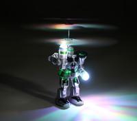 RC Voador Robô com Transmissor e Carregador USB chumbo