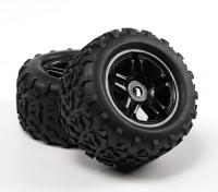 HobbyKing ® ™ 1/8 Crawler 155 milímetros roda & do pneu (Black Rim) (2pcs)