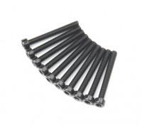 Metal soquete Machine Head Hex Screw M2.6x22-10pcs / set