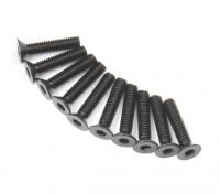 Machine Head metal plana Hex Screw M3x14-10pcs / set