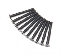 Machine Head metal plana Hex Screw M3x28-10pcs / set