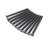 Machine Head metal plana Hex Screw M3x34-10pcs / set