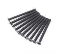 Machine Head metal plana Hex Screw M3x36-10pcs / set