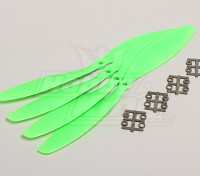 GWS Estilo Slowfly Hélice 11x4.7 Green (CCW) (4pcs)