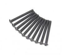 Redonda do metal Machine Head Hex Screw M3x28-10pcs / set