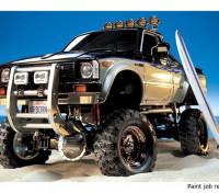 Tamiya 1/10 Escala Kit Toyota Hilux alta-Lift Truck w / 3-Speed & Prancha 58397