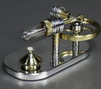 Stirling Bóia Engine - Exibição Trabalho Modelo