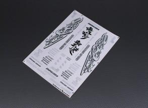 Folha de Auto-adesivo Decal - Carga velocidade 1/10 Scale