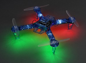 HobbyKing FPV250 V4 azul do fantasma Edição LED Night Flyer FPV Drone (azul) (Kit)